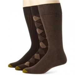 Gold Toe Men's Classic ArgyleDress Socks 3 Pairs
