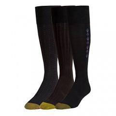 Gold Toe mens Dress Over-the-calf Socks 3 Pairs