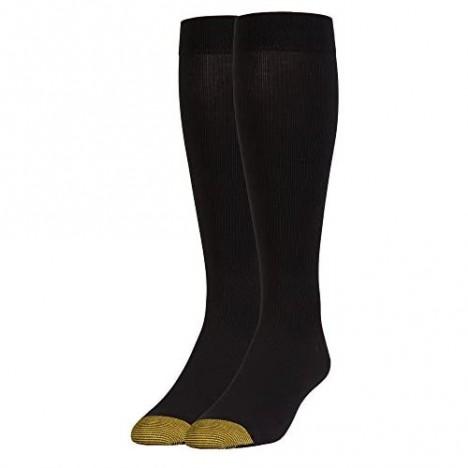Gold Toe mens Mild Compression Rib Over-the-calf 1 Pair