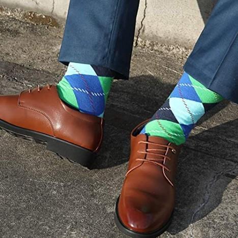 Jeasona Mens Dress Socks Crew Pack Funny Fun Crazy Novelty Cool Funky Cotton
