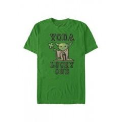 Star Wars Yoda So Lucky Graphic Short Sleeve T-Shirt