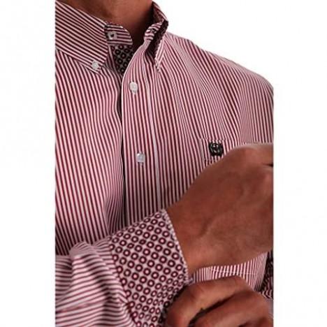 Cinch Men's Tencel Striped Long Sleeve Western Shirt - Mtw1105030