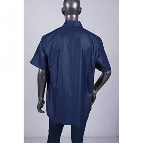 ELISCO African Short Sleeve Mens Shirt Dashiki Print Tops Loose Large Summer Wear