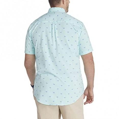 IZOD Men's Big & Tall Big Breeze Short Sleeve Patterned Shirt Bachelor Button Skulls 3X-Large Tall