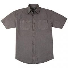 Men's Short Sleeve Button-Down Casual Shirt with Pockets | Lightweight Cotton