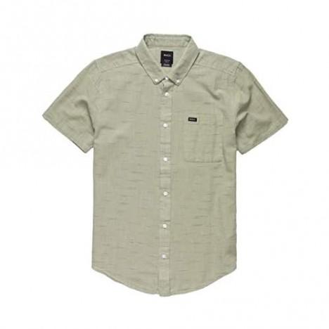 RVCA Men's Thatll Do Texture Short Sleeve Woven Button Front Shirt