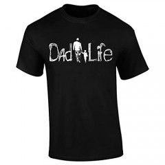 DadLife Brand Dad Tshirt Daughter & Son Gift for Fathers Short Sleeve Graphic T