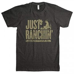 Dale Brisby Black Just Ranchin' Silhouette Unisex T-Shirt