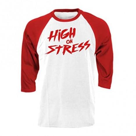 HIGH ON Stress - Parody Life Drugs 90's - Raglan TEE