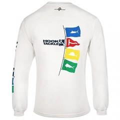 Hook & Tackle Men's Tag Flags | Long Sleeve | UV Sun Protection | Performance Fishing Shirt
