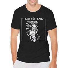 Jiang Lin Tash Sultana Notion Mens Short Sleeve Round Neck Summer Tshirt Fashion Cool Black
