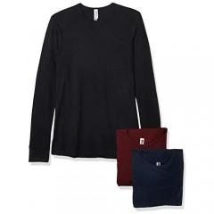 Marky G Apparel Men's Blended Long Sleeve T-Shirt Tees (Pack of 3)